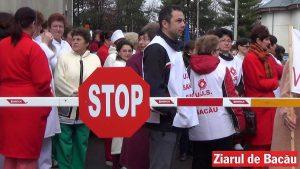 protest sanitas bacau