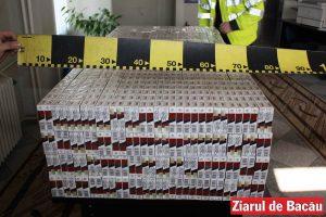 O jumătate de milion de țigări găsite la Nicolae Bălcescu, fără timbre și fără documente