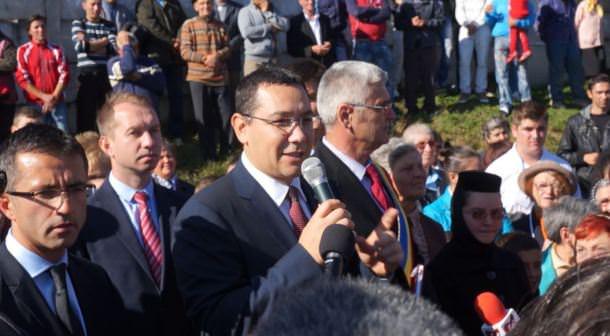 Victor Ponta la Margineni Bacau