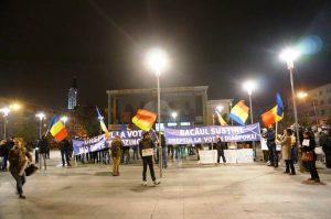VIDEO FOTO Proteste în Bacău – miting anti-Ponta și contramanifestație PSD