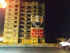 FOTO Primul incident electoral în județul Bacău. Propagandă cu însemnele defunctei USL