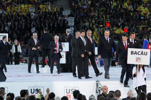 Lucian Sova si Iulian Iancu, la lansarea USL (marcati cu rosu in foto)