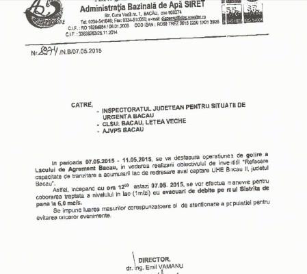 Adresa de la ABA Siret catre institutiile responsabile
