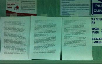 Conducerea Spitalului Județean, rușinată de mesajul postat de medici pe holul de la Urgențe. Vezi în articol textul dedicat pacienților!