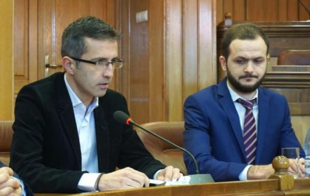 Președintele Dragos Benea si primarul Alexandru Cristea