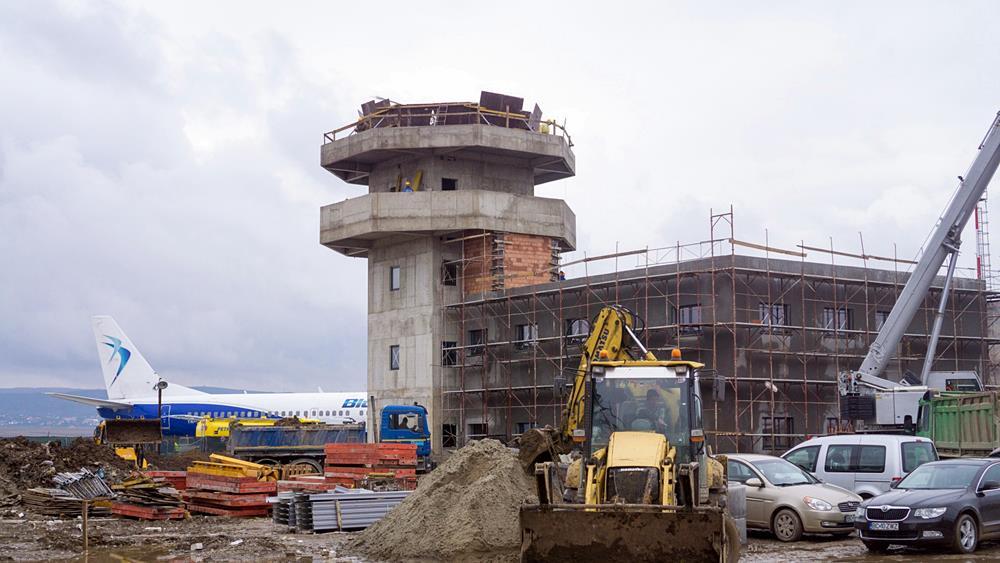 Aeroportul din Bacău, în construcție