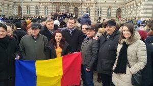 USR Bacău a sărbătorit Ziua Națională a României printre băcăuani