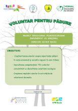Voluntar pentru pădure, la Palatul Copiilor Bacău