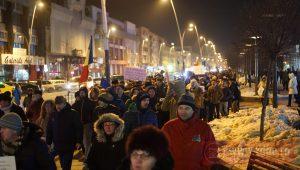 GALERIE FOTO! Protest de amploare în Bacău, împotriva ordonanțelor Grindeanu – UPDATE