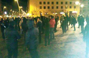 VIDEO Protest în Bacău, după ce Guvernul a adoptat legea graţierii şi modificarea codurilor penale