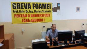 Profesorul Marius Stamate este în a opta zi de grevă a foamei – UPDATE