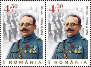 Generalul băcăuan Radu R. Rosetti, în emisiunea de mărci poştale Glorie Eternă Eroilor Primului Război Mondial