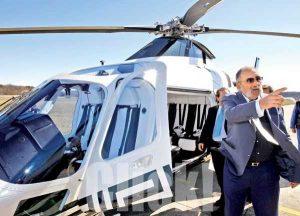 EXCLUSIV! Ion Țiriac, cu elicopterul pe Aeroportul Bacău. Miliardarul a venit să verifice stadiul proiectului cu Real Madrid