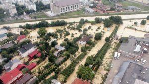 FOTO: Cum arată partea inundată a municipiului Bacău