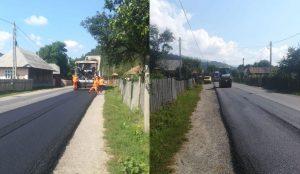 Lucrări de asfaltare pe 3 drumuri importante din județul Bacău. Azi a început asfaltarea pe Brusturoasa – Ghimeș Făget
